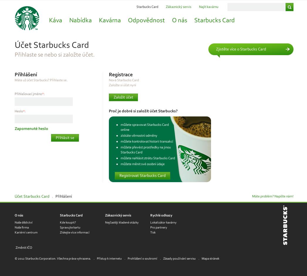 Web card.starbuckscoffee.cz